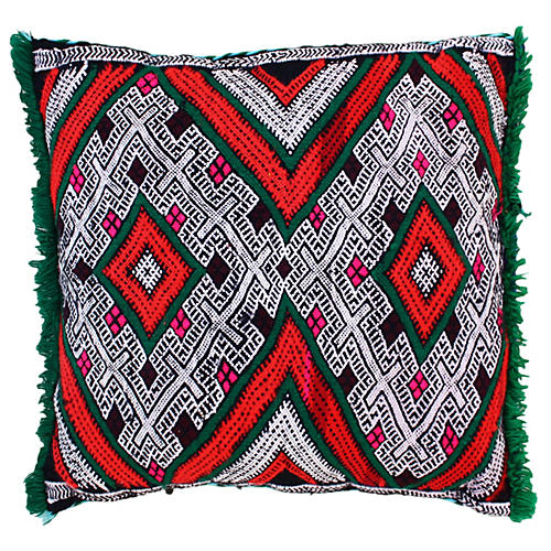 Moroccan Pillow w/ Berber-Tattoo Design