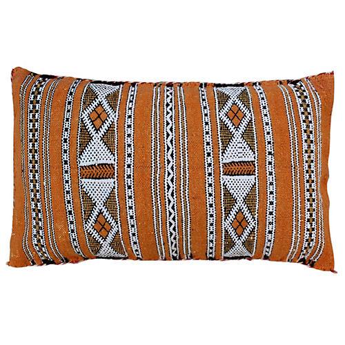 Striped Berber Pillow w/ Diamonds