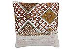 Kilim Pillow Sham w/ Ornate Tribal Motif