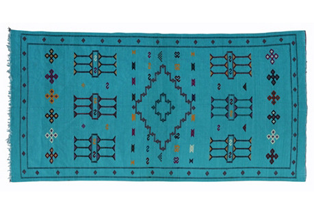 Moroccan Cactus Silk Rug, 8'3'' x 4'6''