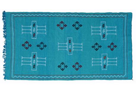 Moroccan Cactus Silk Rug, 7'10'' x 4'3''