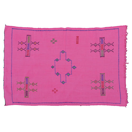 Pink Moroccan Cactus Silk, 4'10'' x 3'
