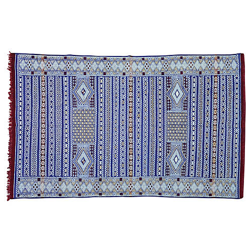 Blue Moroccan Rug, 6'3'' x 4'