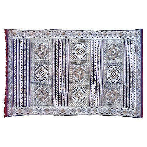 Moroccan Rug w/ Diamonds, 7'3'' x 4'7''