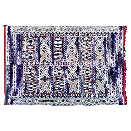 Moroccan Rug w/ X & Diamonds, 8' x 5'7''