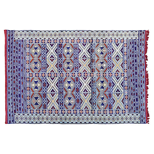 Moroccan Rug w/ X & Diamonds, 8' x 5'7''