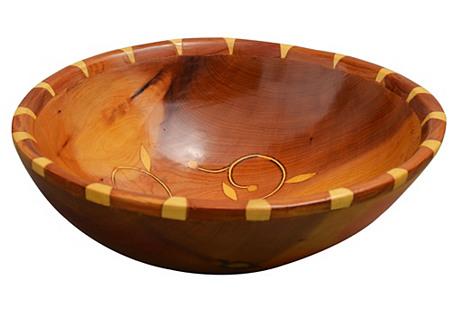 Handmade Moroccan Bowl w/ Ornate Pattern