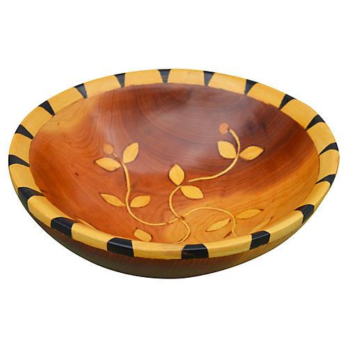 Handmade Moroccan Bowl w/ Berber Inlay