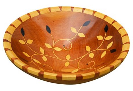 Moroccan Bowl w/ Intricate Floral Inlay