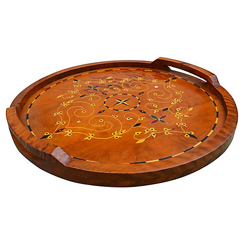 Handmade Moroccan Wood Tray