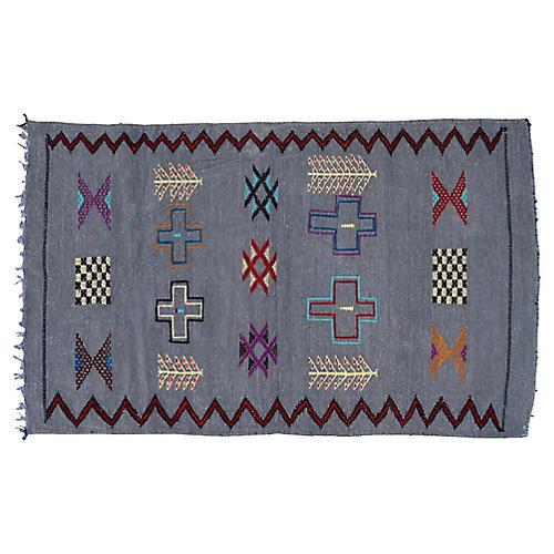 Moroccan Silk Rug, 3' x 4'8''
