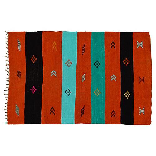 Moroccan Silk Kilim, 3'2'' x 5'