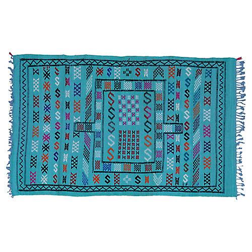 Moroccan Silk Rug, 4'8'' x 3'