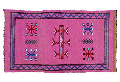 Moroccan Silk Rug, 1'7'' x 3'1''