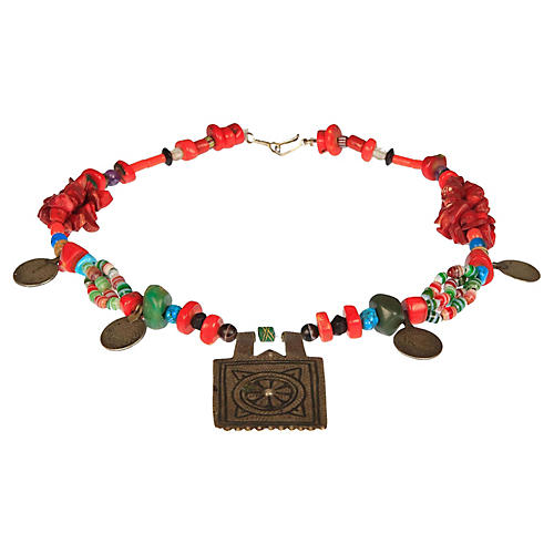 Moroccan Berber Engraved Necklace