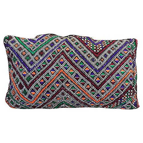 Purple & Orange Moroccan Berber Pillow