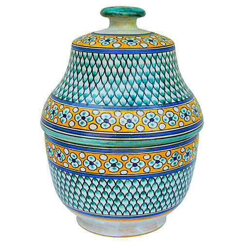 Handmade Moroccan Ceramic Lidded Bowl