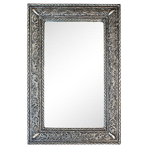 Handcrafted Mirror w/ Ornate Engravings