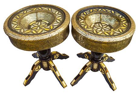 Handmade Moroccan Tables, S/2