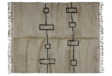Moroccan Beni Ourain Rug, 5'4'' x 6'5''