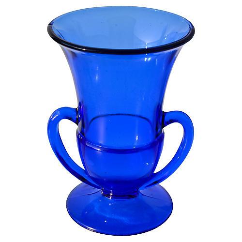 Midcentury Cobalt Blue Glass Vase