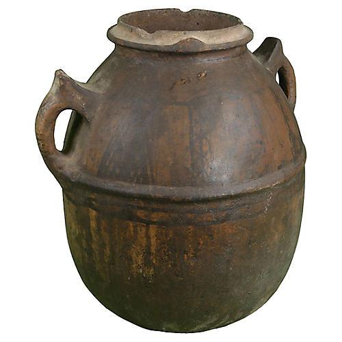 Berber Water Vessel w/ Tattoos & Handles