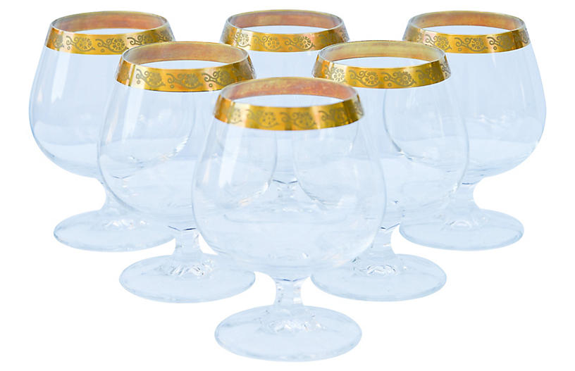 Crystal Glasses, S/6