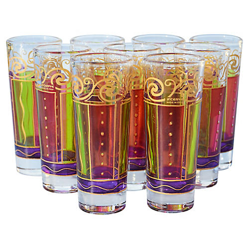Italian Shot Glasses, S/9