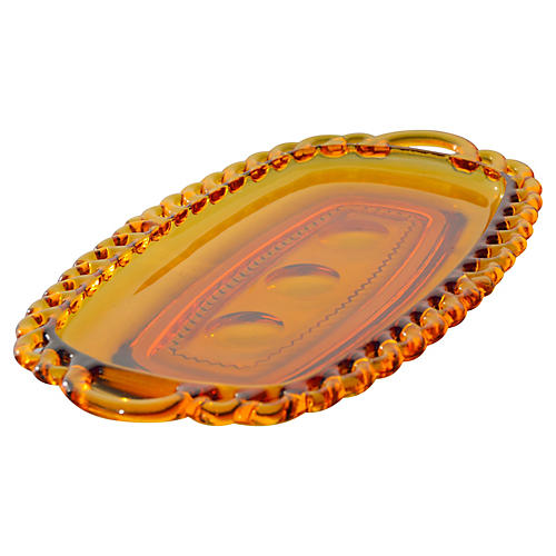 Midcentury Glass Dish