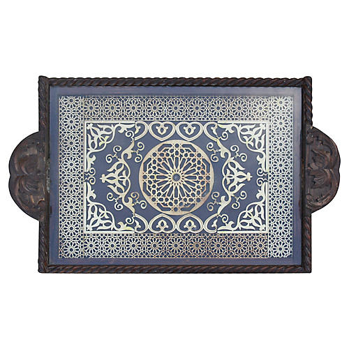 Moroccan Tray w/ Ornate Moorish Design