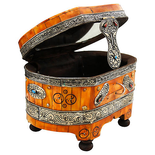 Moroccan Hand-Engraved & Inlaid Box