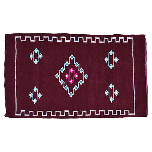 "Moroccan Rug, 3' x 4'10"""