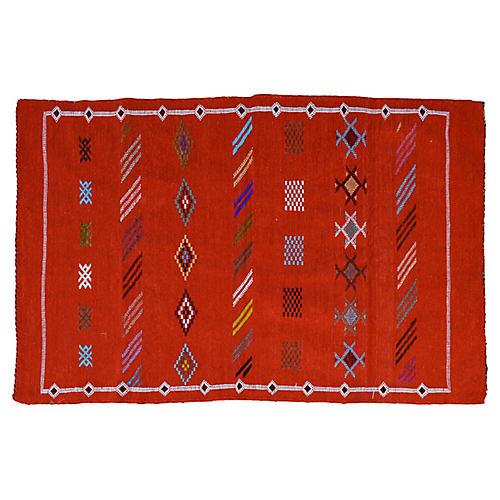 Moroccan Silk Rug, 3'1'' x 4'11''