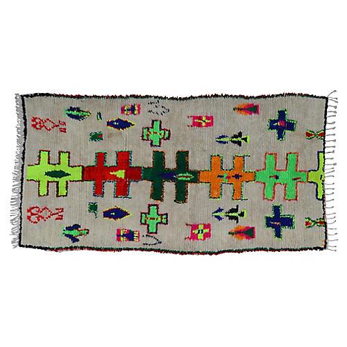 "Moroccan Rug, 4' x 8'6"""