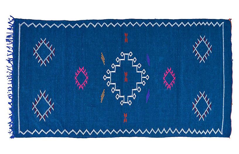 Moroccan Silk Rug, 3'6
