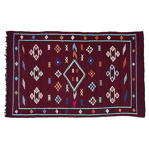 "Moroccan Rug, 3'8"" x 6'"