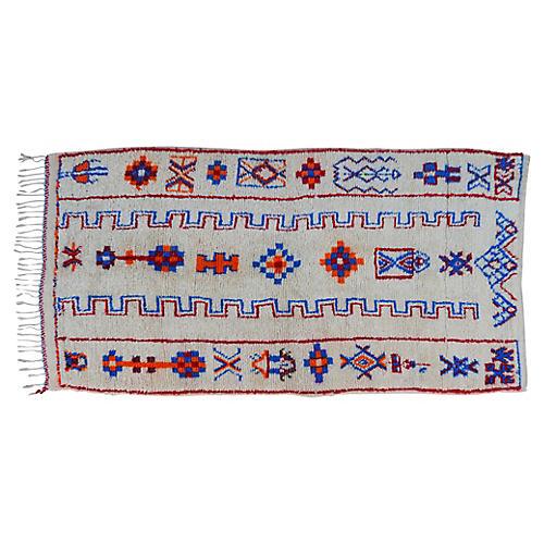 "Moroccan Rug, 4' x 7'8"""