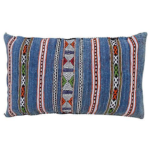 Blue Striped Moroccan Berber Pillow