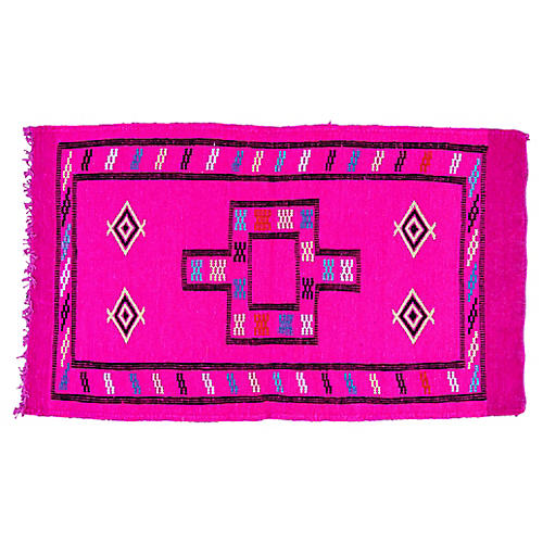 "Moroccan Wool Rug, 3'2"" x 1'8"""