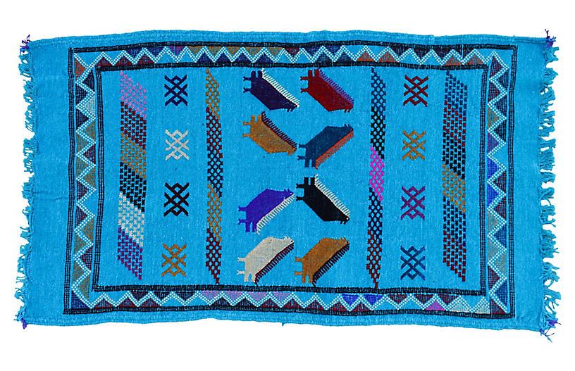 Moroccan Silk Kilim, 3'2