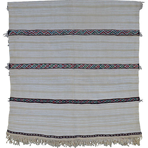Striped Moroccan Wedding Blanket