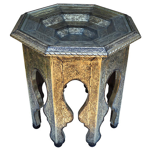Moroccan Engraved Table