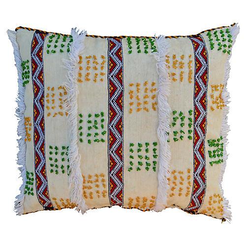Striped Moroccan Berber Handira Sham