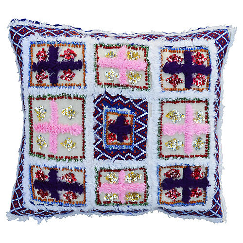 Pink & Purple Moroccan Pillow Sham