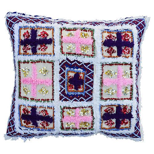Pink & Purple Moroccan Pillow Sham