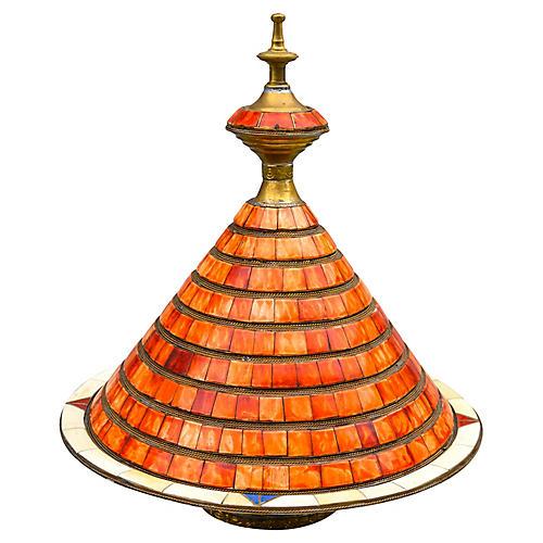 Moroccan Bowl w/ Lid & Bone Inlay