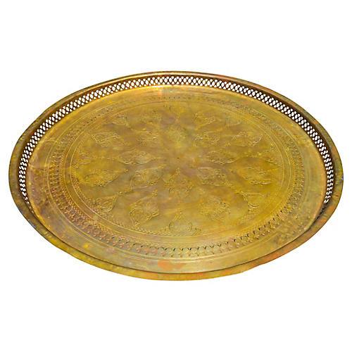 Handmade Moroccan Brass Tray