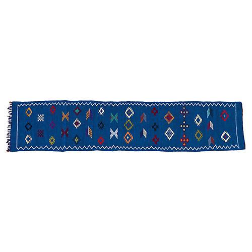 Moroccan Silk Runner, 10' x 2'2''