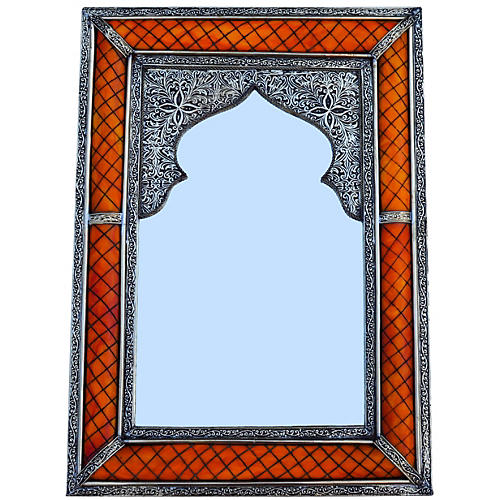 Hand-Engraved Moorish Mirror