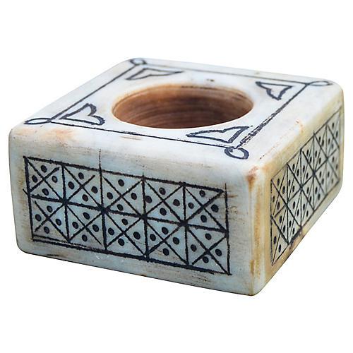 Antique Moorish Candleholder & Catchall
